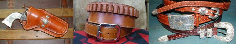 Holsters, gunbelt, western dress belts