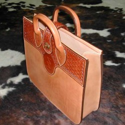 Western ranch briefcase