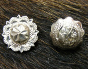 sterling silver engraved conchos